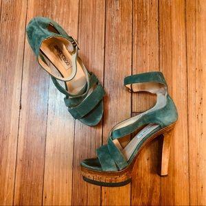 """Jimmy Choo """"Volume"""" Jade platform suede sandal 6"""